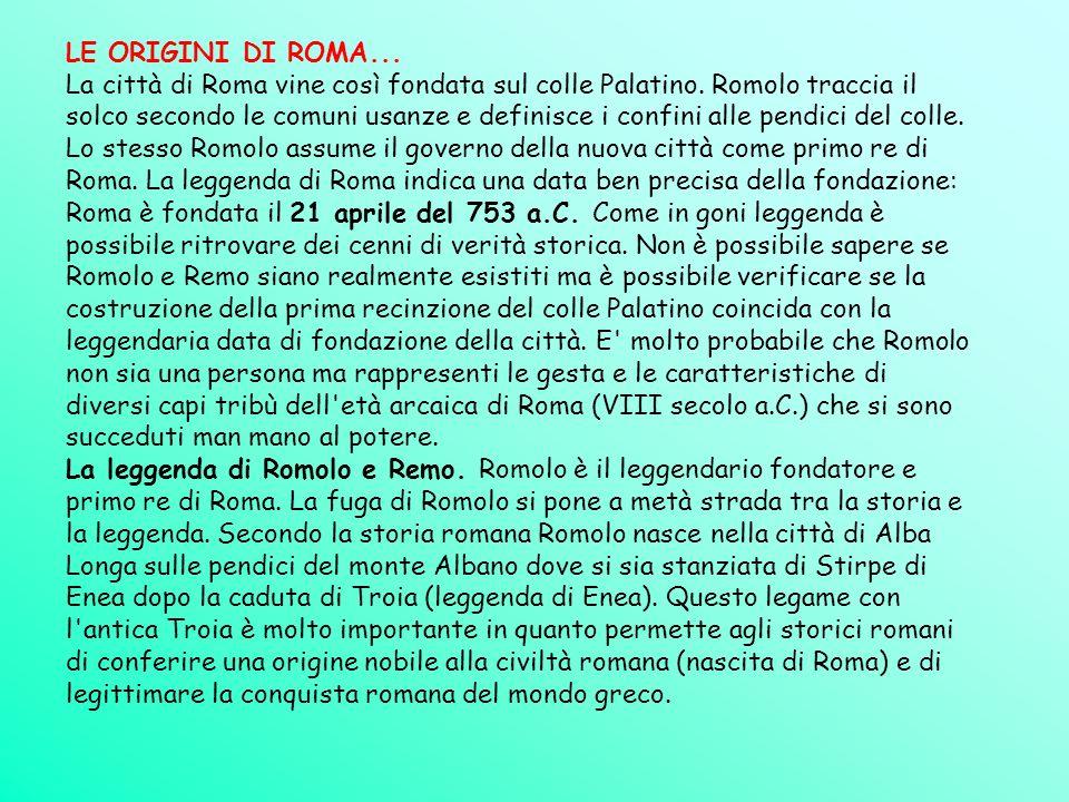 LE ORIGINI DI ROMA...