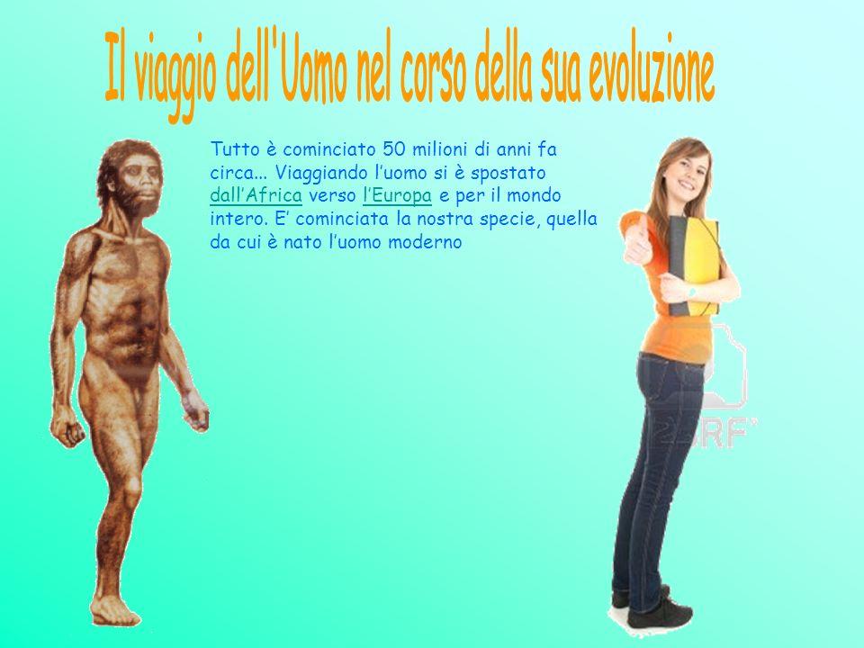 Il viaggio dell Uomo nel corso della sua evoluzione