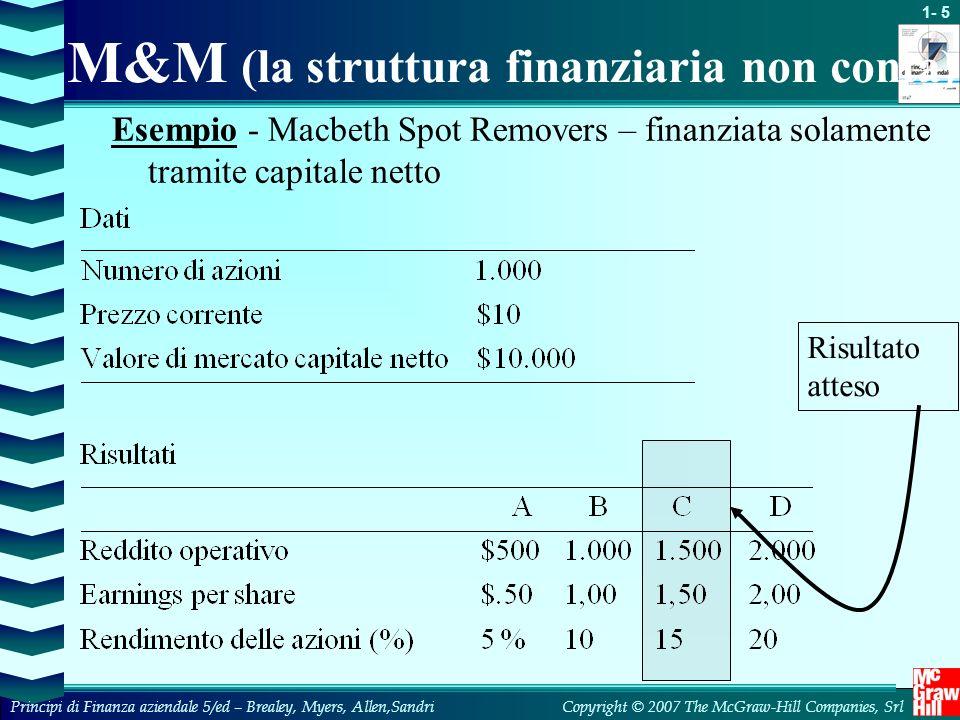 M&M (la struttura finanziaria non conta)