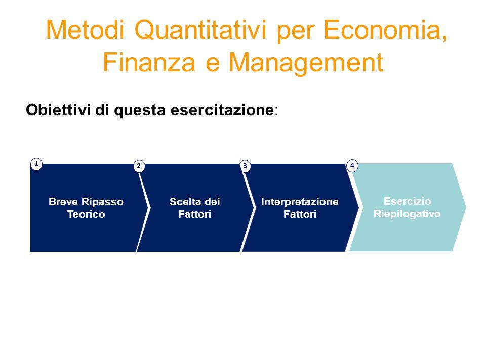 Metodi Quantitativi per Economia, Finanza e Management