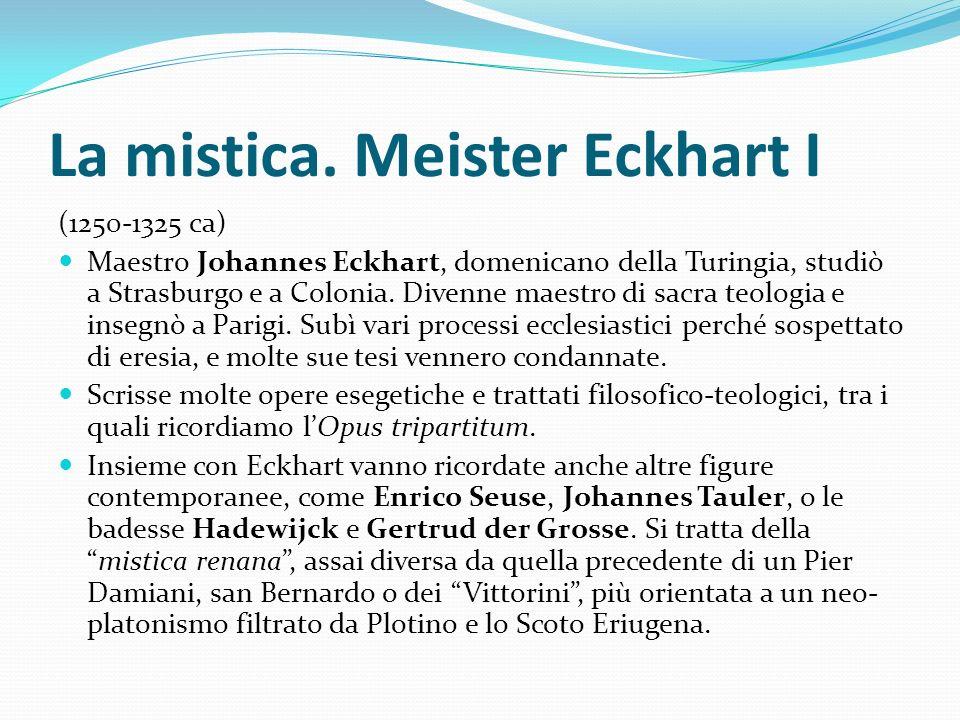 La mistica. Meister Eckhart I
