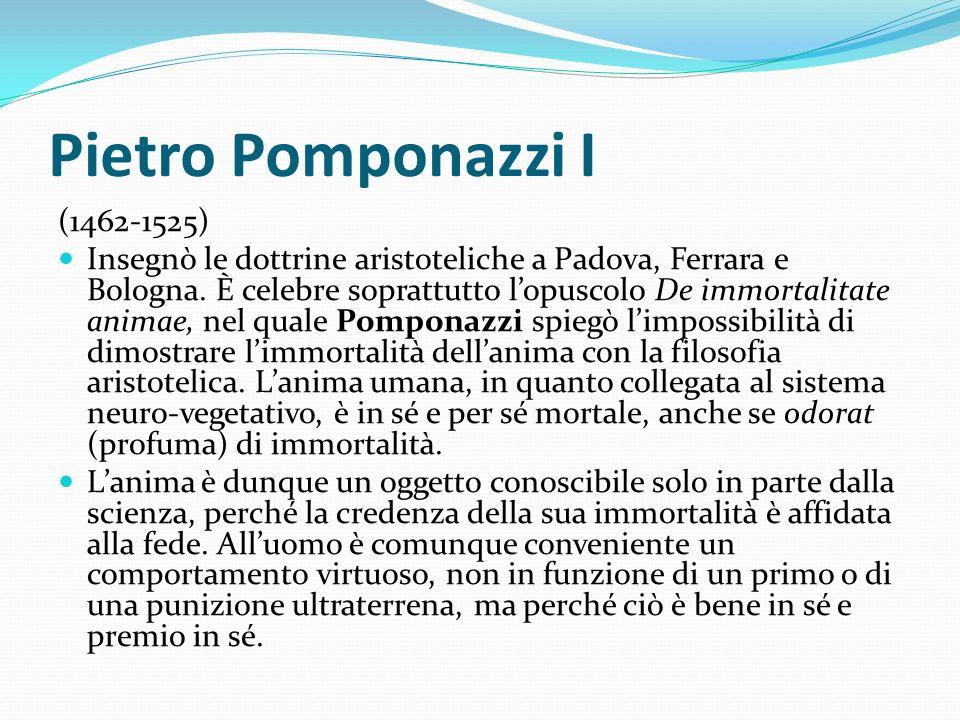 Pietro Pomponazzi I (1462-1525)