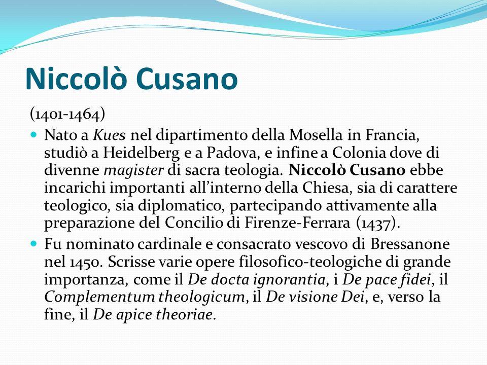 Niccolò Cusano (1401-1464)