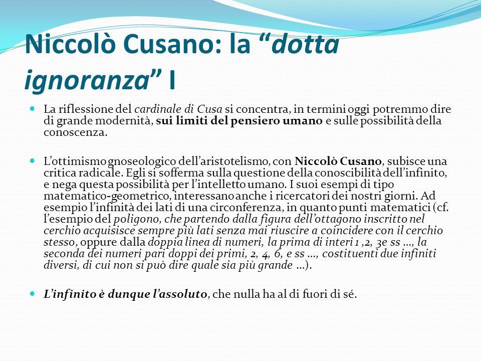 Niccolò Cusano: la dotta ignoranza I
