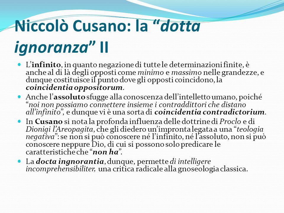 Niccolò Cusano: la dotta ignoranza II