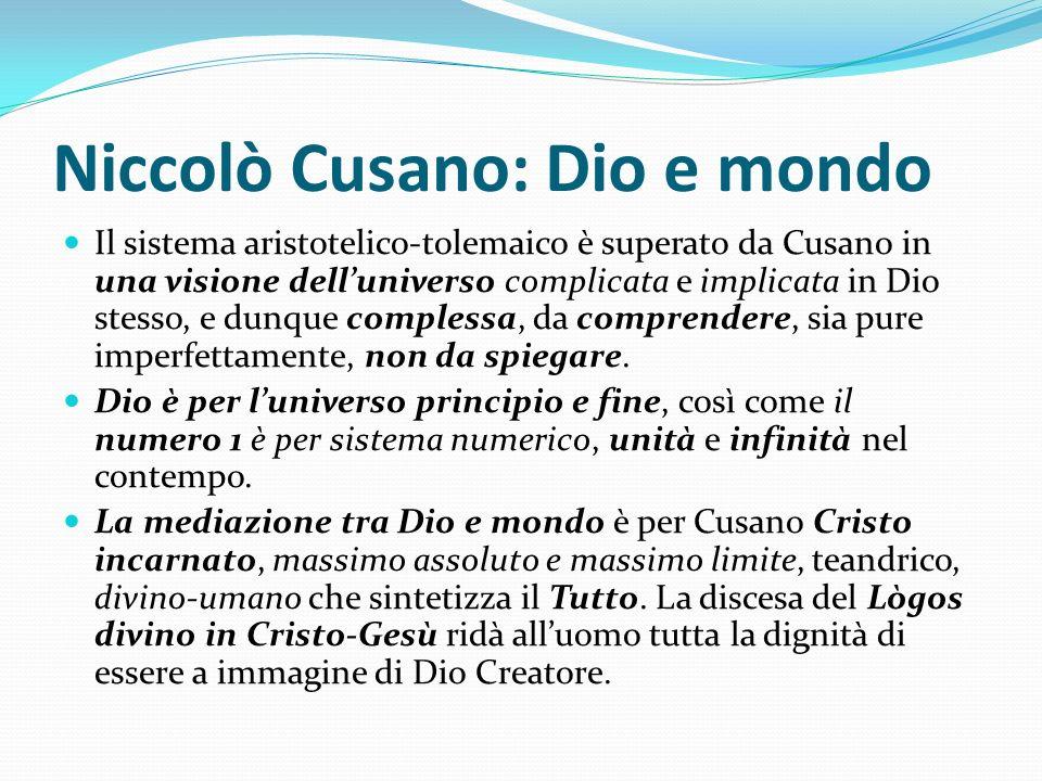 Niccolò Cusano: Dio e mondo