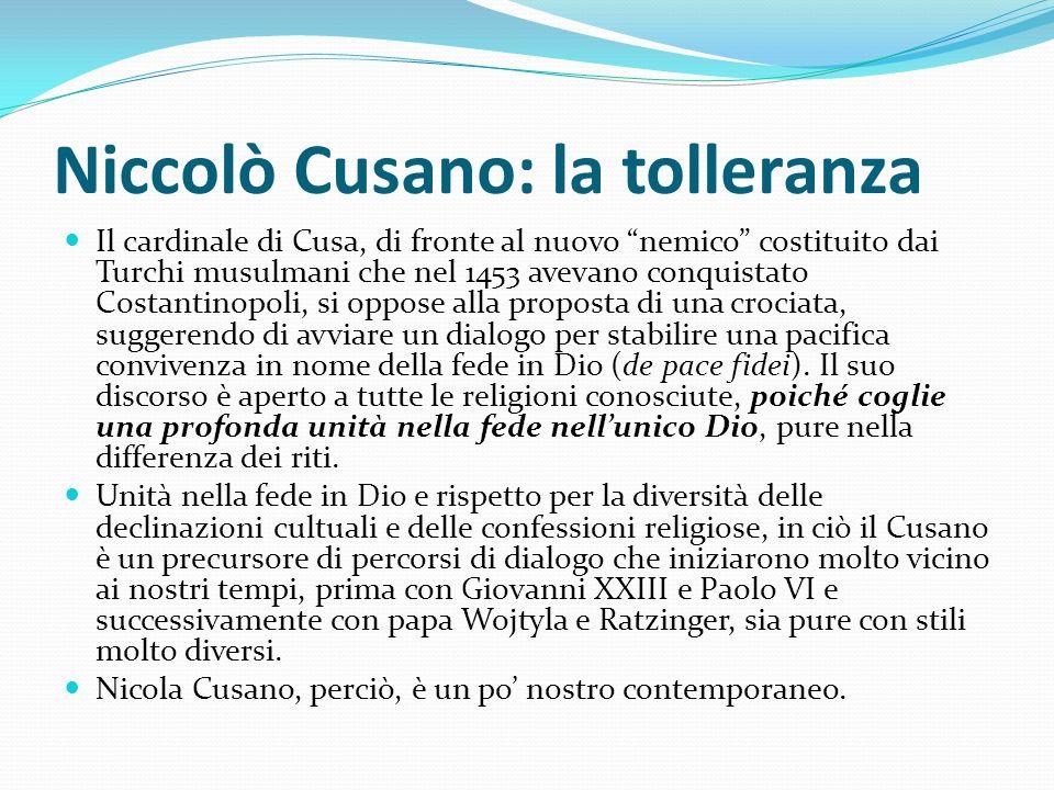 Niccolò Cusano: la tolleranza