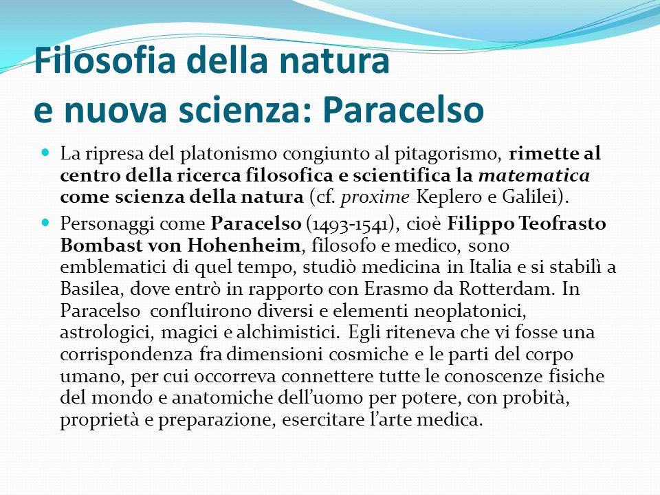 Filosofia della natura e nuova scienza: Paracelso