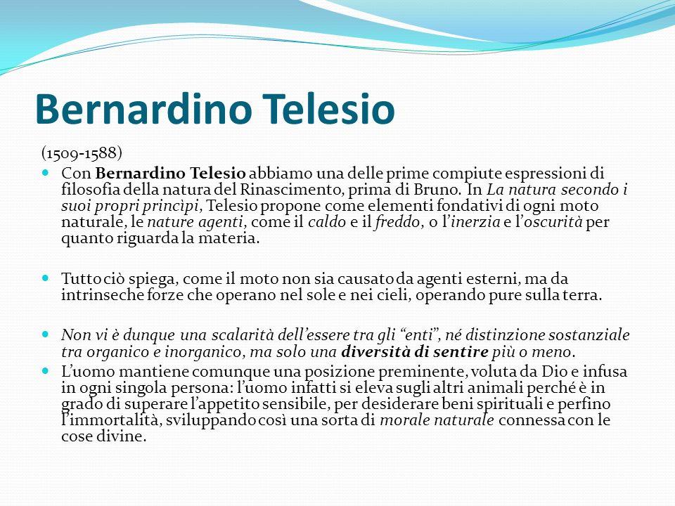 Bernardino Telesio (1509-1588)