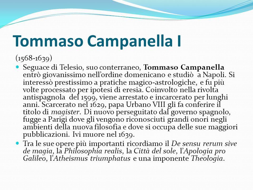 Tommaso Campanella I (1568-1639)