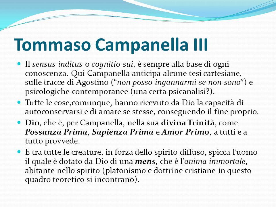 Tommaso Campanella III