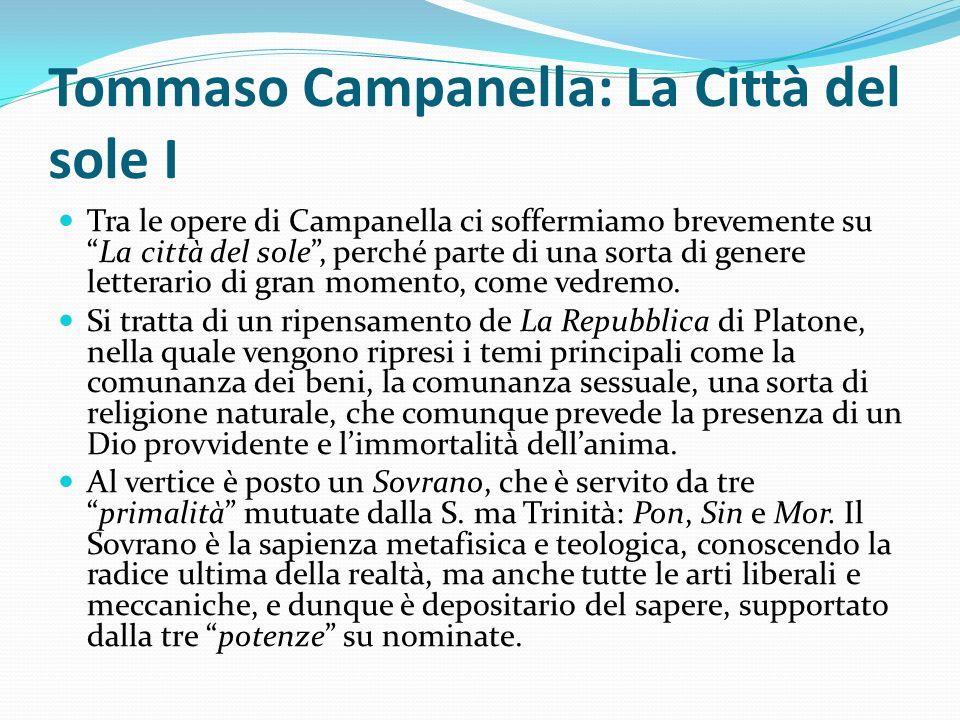Tommaso Campanella: La Città del sole I