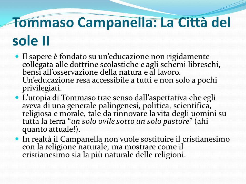 Tommaso Campanella: La Città del sole II