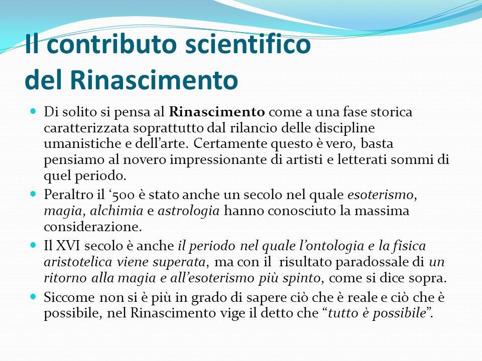 Il contributo scientifico del Rinascimento