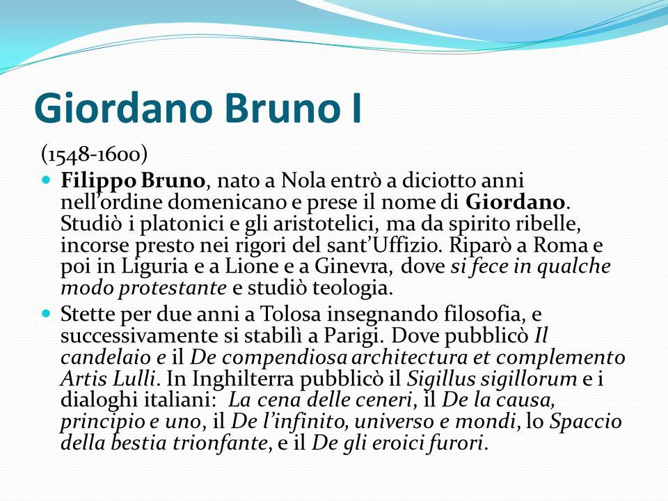 Giordano Bruno I (1548-1600)