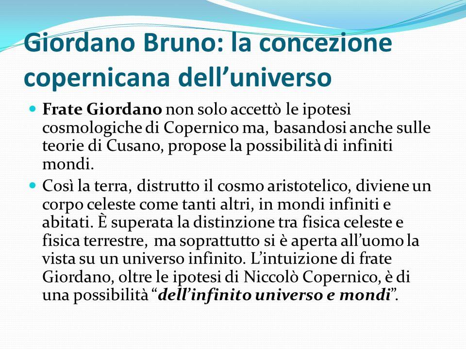Giordano Bruno: la concezione copernicana dell'universo