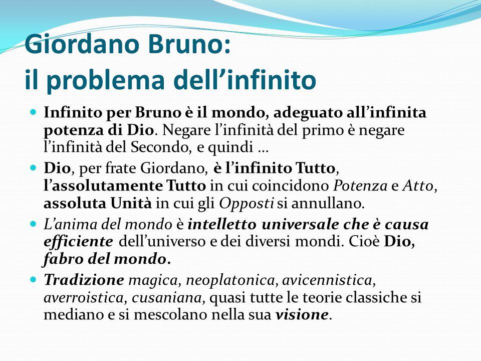 Giordano Bruno: il problema dell'infinito