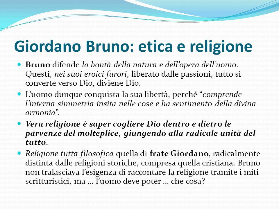 Giordano Bruno: etica e religione