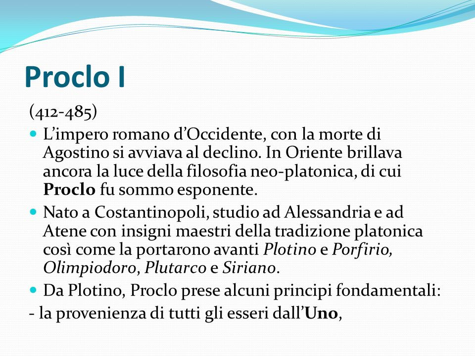 Proclo I (412-485)