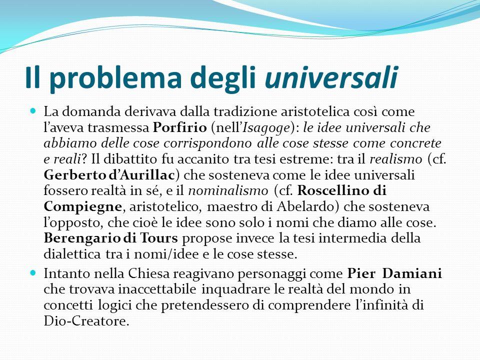 Il problema degli universali