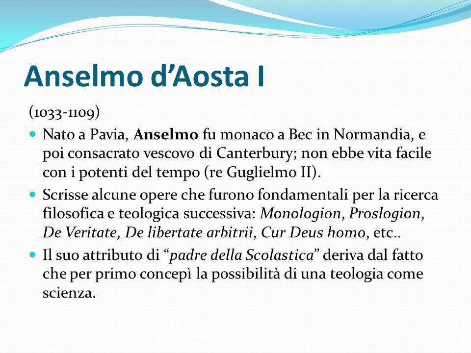 Anselmo d'Aosta I (1033-1109)