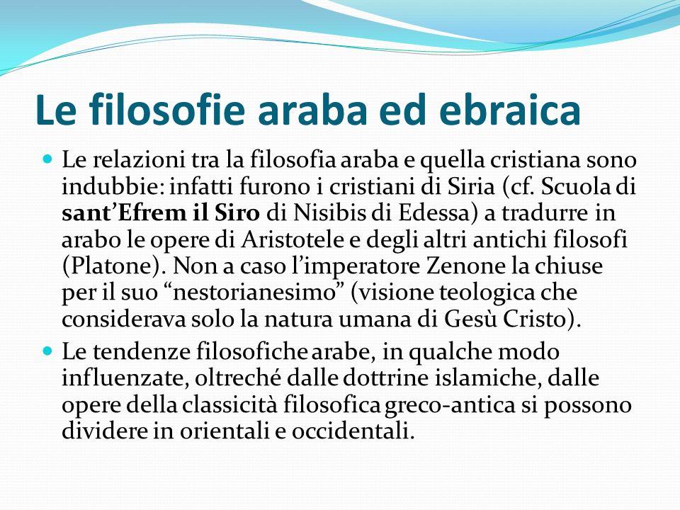 Le filosofie araba ed ebraica