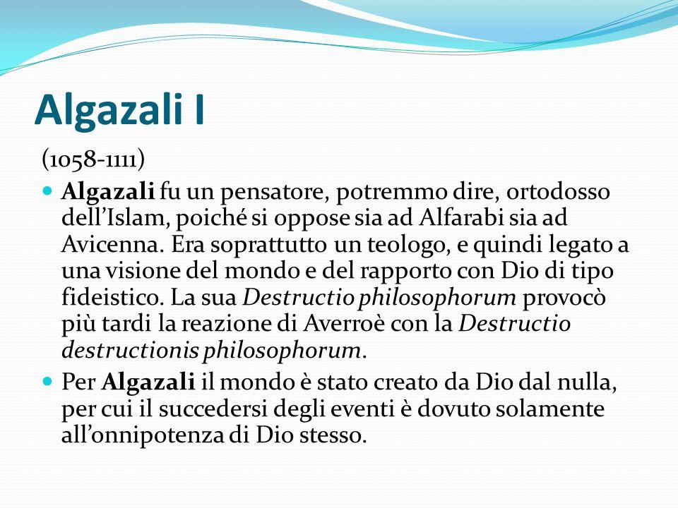 Algazali I (1058-1111)