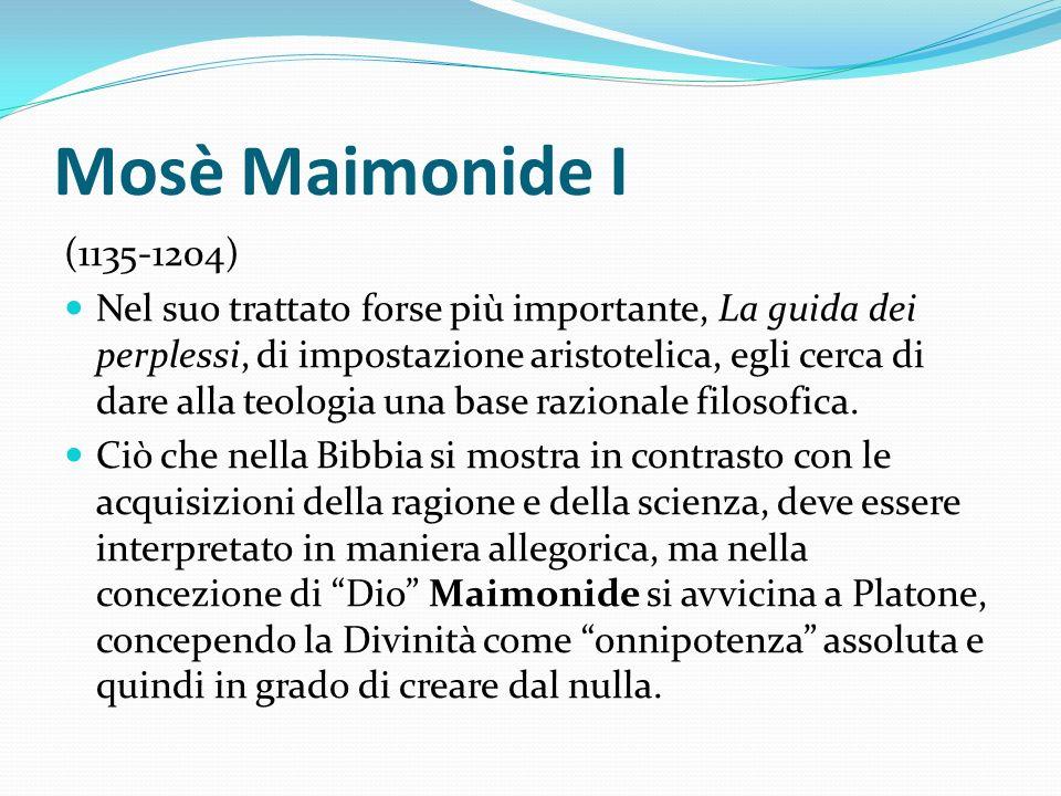 Mosè Maimonide I (1135-1204)