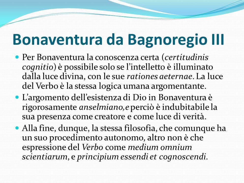 Bonaventura da Bagnoregio III