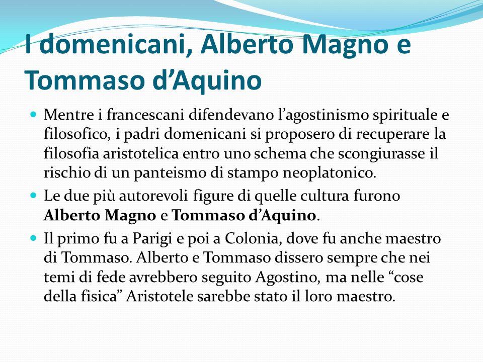 I domenicani, Alberto Magno e Tommaso d'Aquino