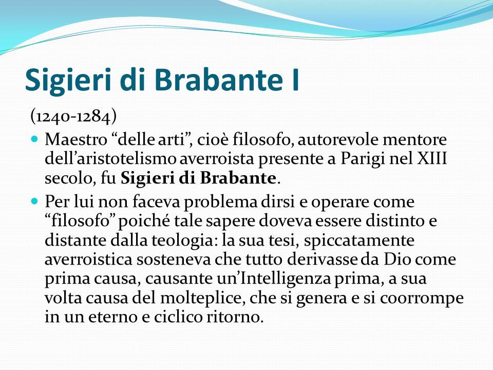 Sigieri di Brabante I (1240-1284)