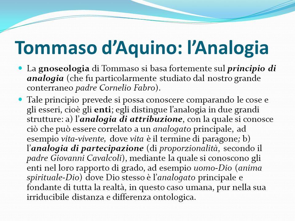 Tommaso d'Aquino: l'Analogia