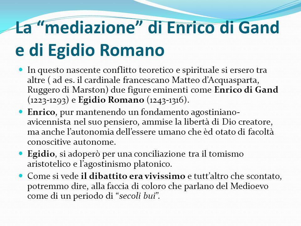 La mediazione di Enrico di Gand e di Egidio Romano