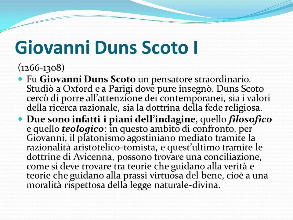 Giovanni Duns Scoto I (1266-1308)
