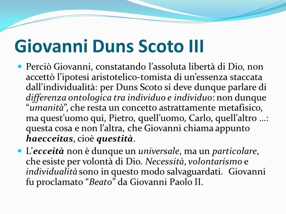 Giovanni Duns Scoto III
