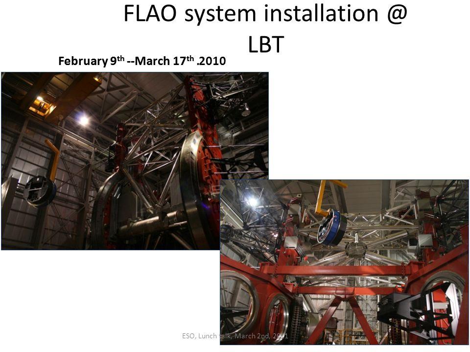 FLAO system installation @ LBT