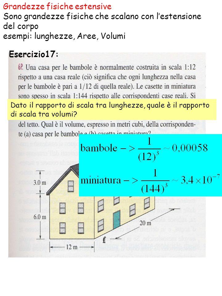 esempi: lunghezze, Aree, Volumi