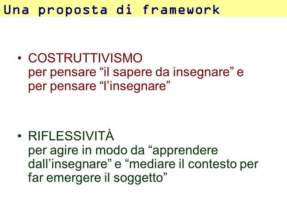 Una proposta di framework