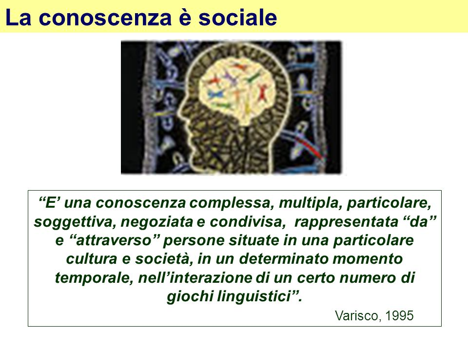 La conoscenza è sociale