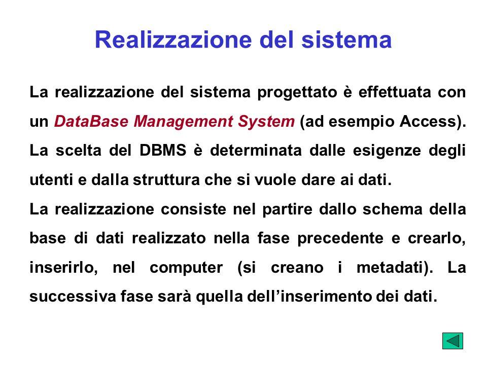 Realizzazione del sistema