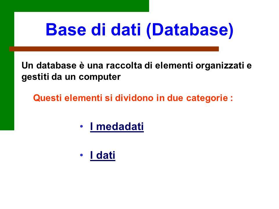 Base di dati (Database)