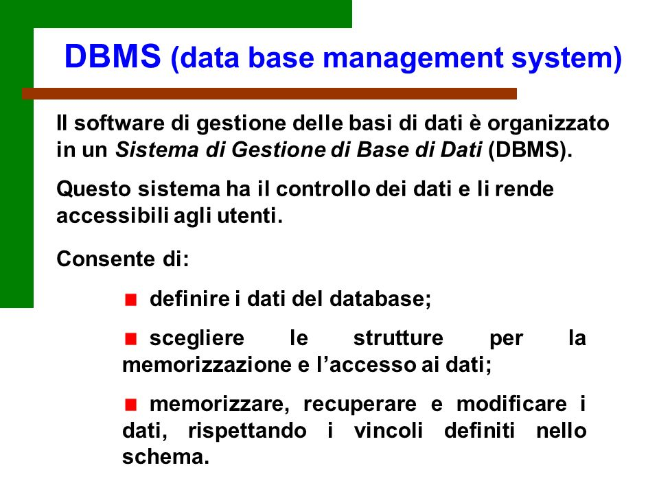 DBMS (data base management system)