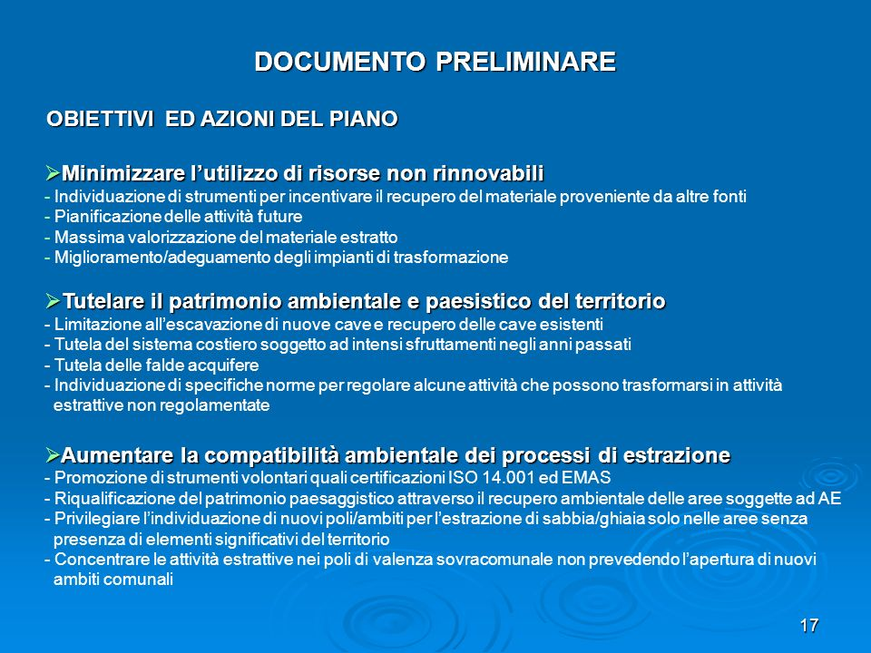 DOCUMENTO PRELIMINARE