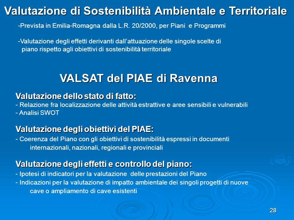 Valutazione di Sostenibilità Ambientale e Territoriale