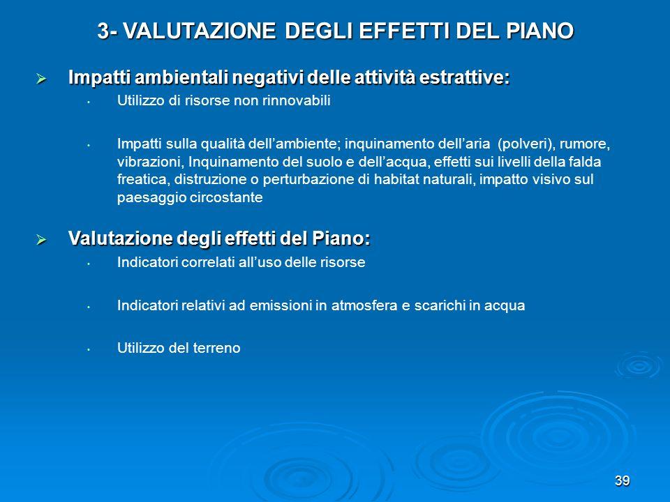 3- VALUTAZIONE DEGLI EFFETTI DEL PIANO