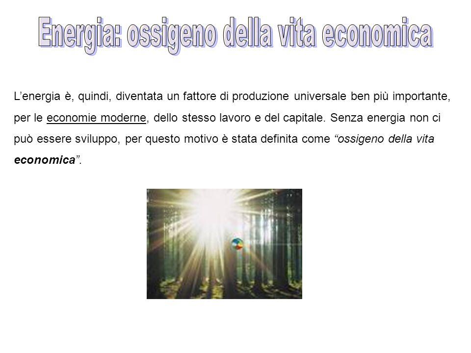 Energia: ossigeno della vita economica