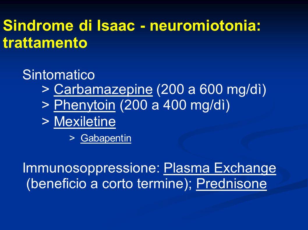 Sindrome di Isaac - neuromiotonia: trattamento
