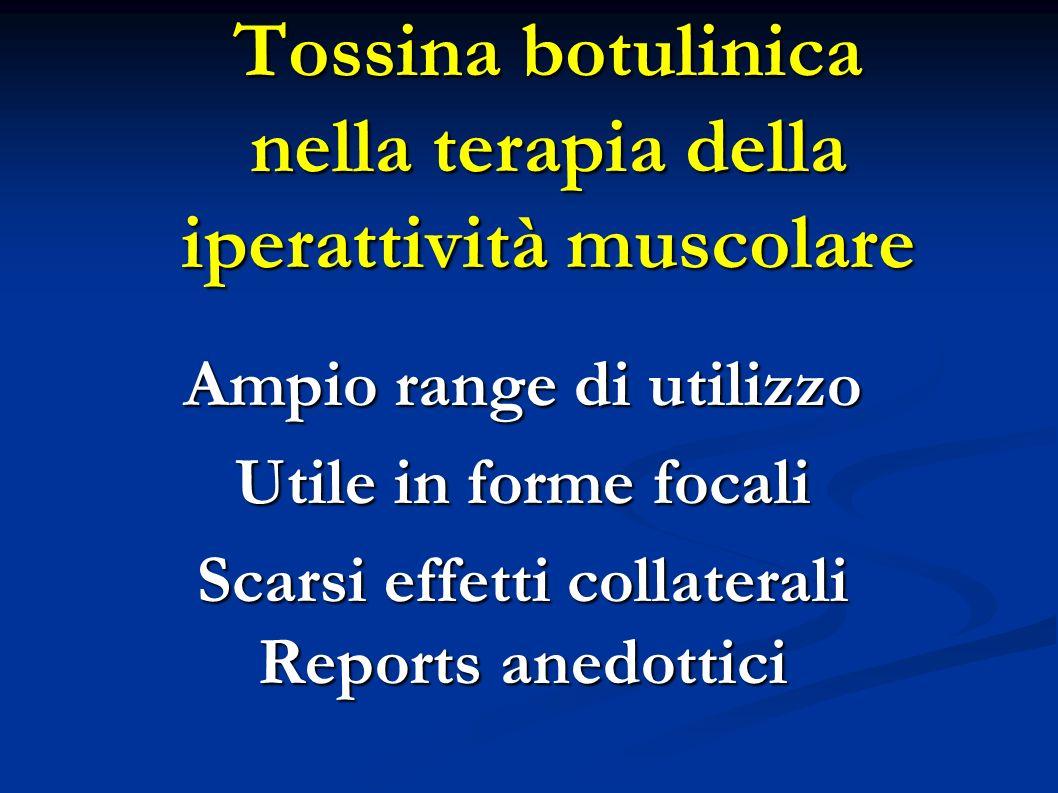 Tossina botulinica nella terapia della iperattività muscolare
