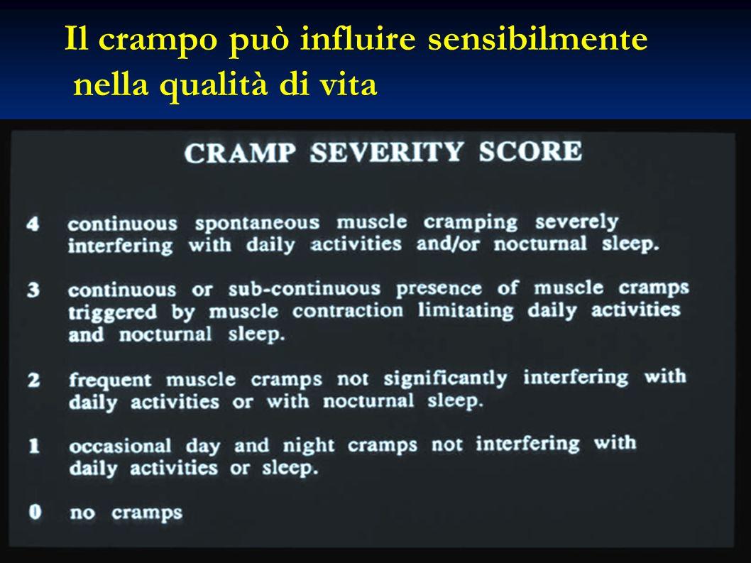 Il crampo può influire sensibilmente