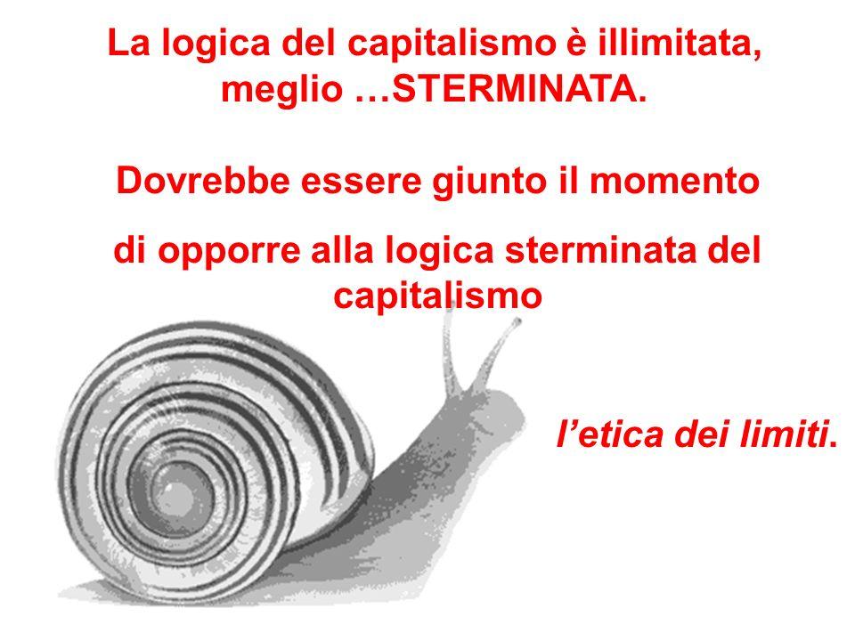 La logica del capitalismo è illimitata, meglio …STERMINATA.